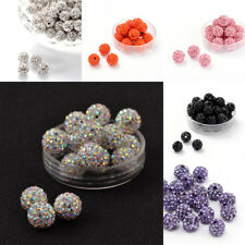 100pcs Pave Disco Ball Beads Polymer Clay Rhinestone Beads Crystal 8mm 10mm