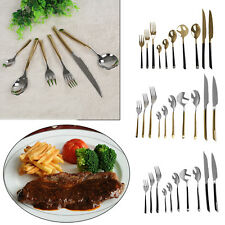 10 Piece Stylish Stainless Steel Cutlery Set Fork Spoon Tableware Dining Kit