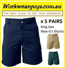 5 x PAIRS King Gee New G's Shorts (Navy-Black-Khaki-Green) #AUTHORISED RESELLER#