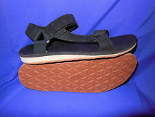TEVA Mens Size 11 Original Universal  Premium Leather Sport Sandal BLACK New!!
