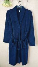 Luxury Mens DARK BLUE Thermal Coral Fleece Dressing Gowns Super soft Bath Robe