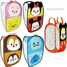 Disney Pop-Up Laundry Hamper Clothes Mesh Basket Bag Kids Toy Storage Organizer