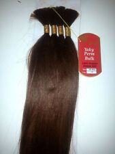 "100% HUMAN HAIR YAKY PERM BULK 18"";BEVERLY JOHNSON;STRAIGHT;BRAIDING;WOMEN"