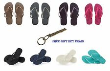 ORIGINAL HAVAIANAS WOMENS SANDALS FLIP FLOPS SLIM CRYSTAL GLAMOUR GIFT KEY CHAIN