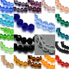 10 Strands Handmade Glass Beads Abacus Faceted Imitate Austrian Crystal Beads