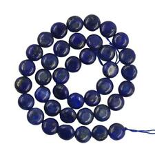 8mm/10mm Oval Blue Lapis Gemstone Loose Bead Strand Jewelry Making Craft 15.5 In