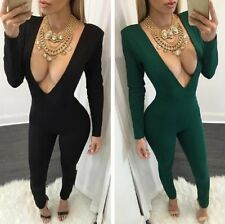 Sexy Women Bandage Bodycon Jumpsuit Fashion Long Playsuit Rompers Pants Clubwear