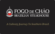 Fogo de Chão Brazilian Steakhouse Gift Card $25 $50 or $100 - Email delivery