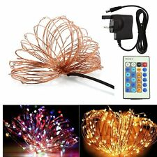 10/15M LED Electric Fairy Lights String Lamp Copper Wire Wedding Party Decor UK