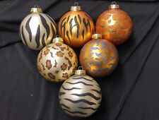 Glass Ball Ornaments-Animal Print  Zebra,Tiger,Giraffe,Leopard sold separately