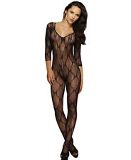 New Dreamgirl 0019 Lace Long Sleeve Bodystocking