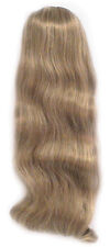 """23"""" LONG FALL STRAIGHT SLIGHT WAVE WAVY HAIR EXTENSIONS W/COMBS HAIRPIECE 1280"""