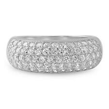 2.25 CTW Sterling Silver Pave Cubic Zirconia Womens Fashion Ring