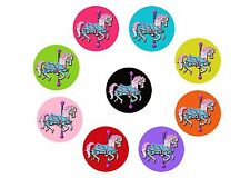 "Horse Carousel 1"" PRECUT Bottle Cap Images Cupcake Topper - Free Shipping"