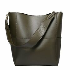 Vintage Hobo Leather Handbags Women Wide Strap Shoulder Bags Large Tote Bag