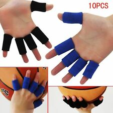 New 10PCS Sports Elastic Finger Wrap Guard Band Nylon Sleeve Caps Protector
