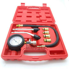 8pc Red Petrol Engine Cylinder Compression Automotive Tool Tester Kit New