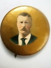 ANTIQUE THEODORE ROOSEVELT STICK PIN BADGE FOR YOUR OLD TEDDY BEAR