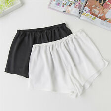 Women Shorts Slip Underwear Lingerie Imitated Silk Loose Safety Render Pants New