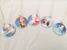 Disney Frozen Characters Style Chain Necklace with Pendant - Elsa Anna All Heros