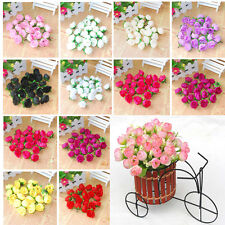 100pcs Roses Artificial Silk Flower Heads Party Wedding Home Decor Lot Colorful