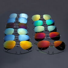 Excellent 100% Beta Titanium Rimless Flexible Mirror Polarized Lenses Sunglasses
