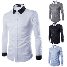 UN3F Stylish Mens Casual Button-Down Slim Fit Long Sleeve Formal Dress Shirts