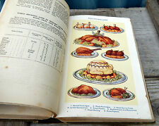 Mrs Beeton's All About Cookery Book Vintage Antique 1920s Illustrated Ward Lock