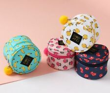 Pop And Fruits Tambourine Pouch Case Makeup Cosmetic Stationery Organizer Bag