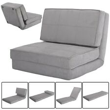 Fold Down Chair Flip Out Lounger Convertible Sleeper Couch Bed Game Dorm Guest