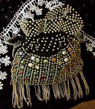 Vintage Evening Bag 1960s Embellished Drawstring Bag Lulu Twiggy