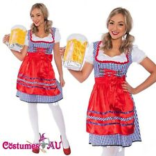 Ladies Beer Maid Wench Costume Oktoberfest Gretchen German Fancy Dress Halloween