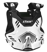 THOR MX Motocross SENTINEL GP Chest Protector/Roost Guard (Wht/Blk) Choose Size