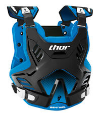 THOR MX Motocross SENTINEL GP Chest Protector/Roost Guard (Blk/Blue) Choose Size