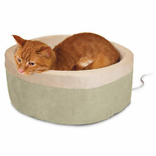 K and H Manufacturing KH Mfg Thermo-Kitty Sage Heated Cat Bed