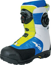HMK Team Focus Mens's White Blue & Green Snowmobile Boot Six Adult Sizes