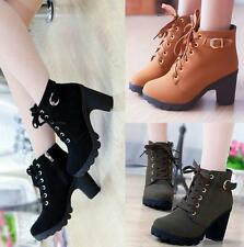 Womens High Heel Booties Platform Ankle Lace Up Boots Fashion knight Boots Shoes