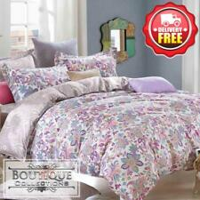 3pc Duvet/Doona/Quilt Cover Set Double/Queen/King Size Bed 300TC 40S Cotton A001