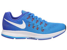 NEW WOMENS NIKE AIR ZOOM PEGASUS 33 RUNNING SHOES TRAINERS BLUE GLOW / RACER BL