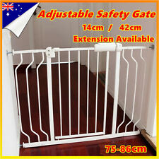 Adjusted Baby Pet Child Safety Security Gate Stair Barrier Extra Wide Extension