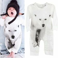 Toddler Romper Baby Boy Girl Kids Cotton Jumpsuit Bodysuit Clothes Outfits 0-24M