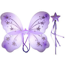 Kids / Girls Lilac Fairy wing and wand set For Real Fairy
