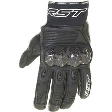 RST NEW Freestyle Short Motorcycle Street Bike Black Leather Road Gloves