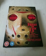 FRIDAY THE 13TH - ULTIMATE EDITION DVD COLLECTION - RARE REGION 2 pal uk BOXSET,