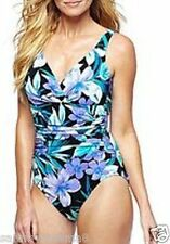 NEW Miraclesuit Size 14 Asteria Forever in Bloom Floral 1-PC Swimsuit $150 NWT
