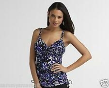 NEW Miraclesuit Size 14 Wendy Purple Reflections 2-PC Tankini Swimsuit $150 NWT