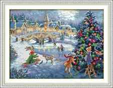Kit broderie point de croix imprimé/compté,11CT/14CT,Cross Stitch Christmas