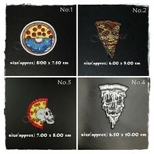 Pizza Zombie Sew On Patch Iron Embroidered Logo Symbol Appliques Free Shipping