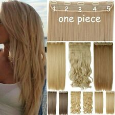 As Human Clip In Hair Extensions Long Curly Ombre One Piece 4/3 Full Head H728