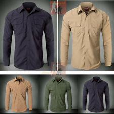 Mens Outdoor Military Tactical Quick Dry Long Sleeve Shirt Hiking Casual SHIRTS